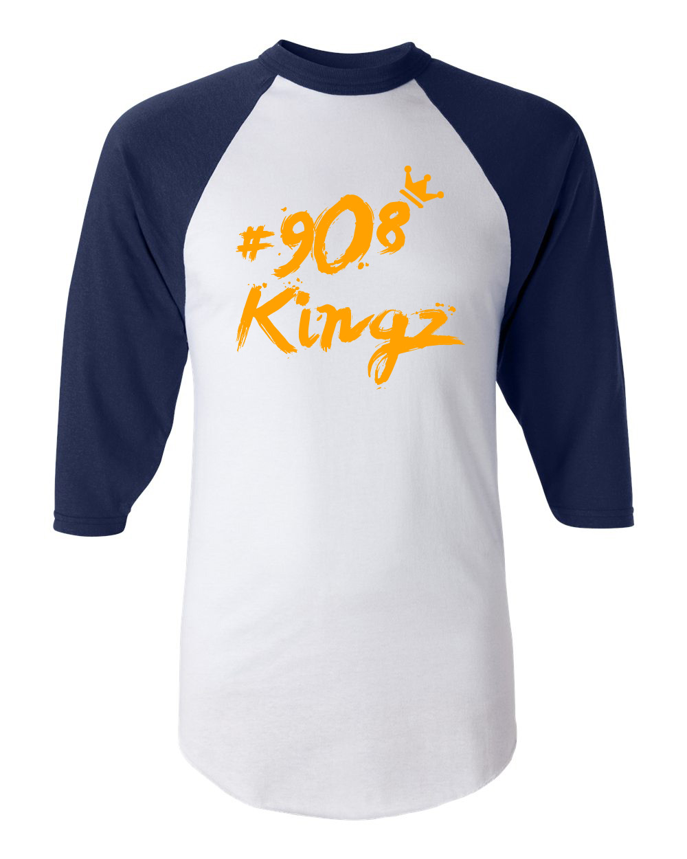 908 Kingz - Baseball Tee (blue and orange)