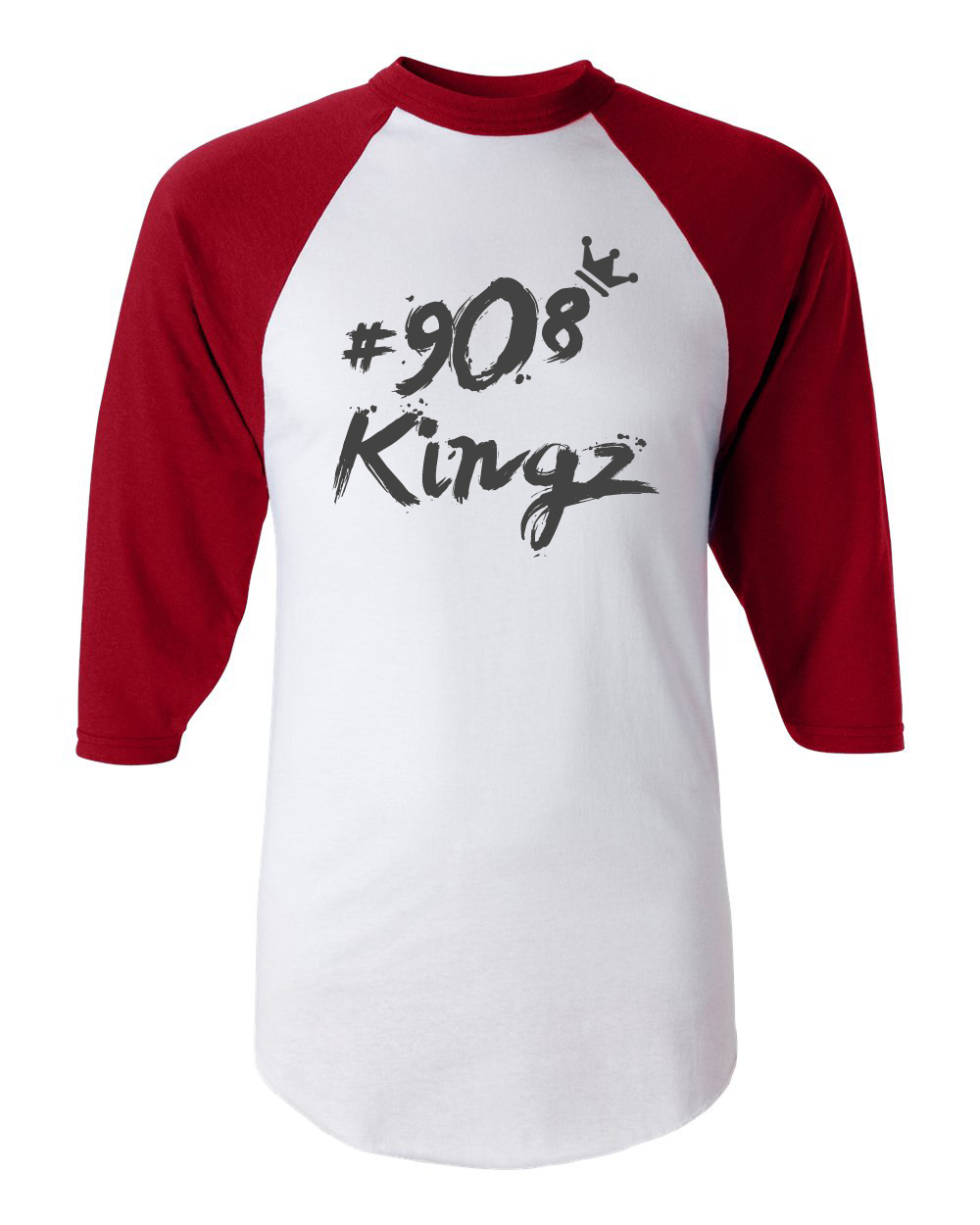 908 Kingz - Baseball Tee (red, white, black)