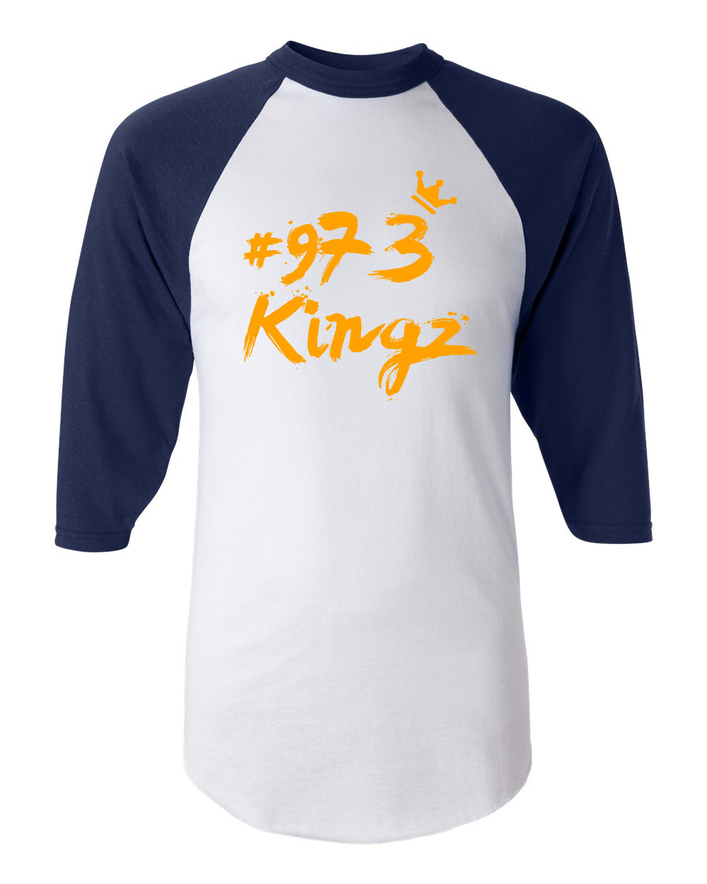 973 Kingz - Baseball Tee (blue and orange)